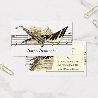 Musik-Entwurfs-Visitenkarten Visitenkarte