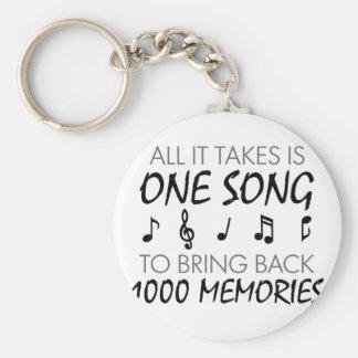 Musik-Erinnerungen Schlüsselanhänger
