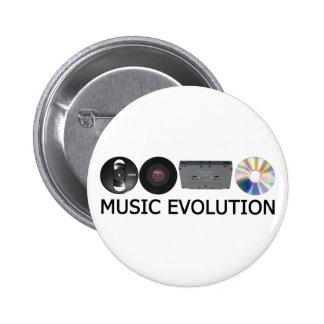 Musik-Evolution Anstecknadelbuttons