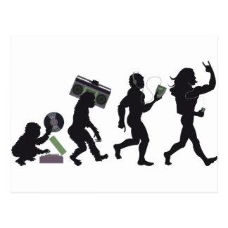 Musik-Evolution Postkarte