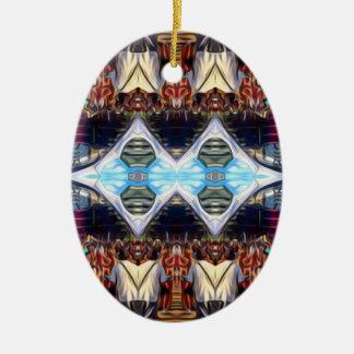 Musik-Festival Ovales Keramik Ornament