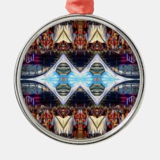 Musik-Festival Rundes Silberfarbenes Ornament