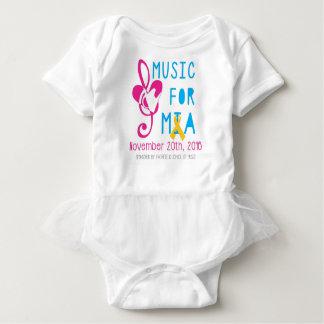Musik für Mia Baby-Ballettröckchen-Bodysuit Baby Strampler