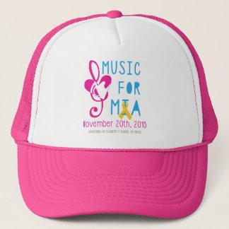 Musik für Mia Maschen-Hut - Rosa Truckerkappe
