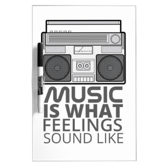 Musik-Gefühle Trockenlöschtafel