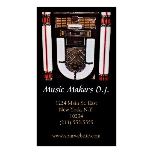Musik-Geschäft oder Disc-Jockey-Geschäfts-Karte Visitenkarten Vorlage