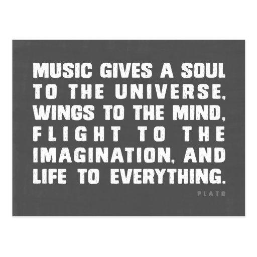 Musik gibt ein Soul zum Universum Postkarten