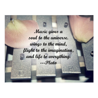Musik gibt Soulglocken-Rosenentwurf Postkarte