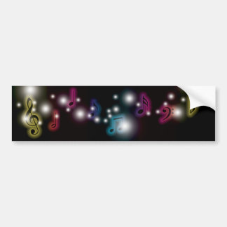 Musik-Glühen Autoaufkleber