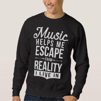 Musik hilft mir, Sweatshirt zu entgehen