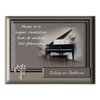 Musik-höhere Enthüllung _Beethoven Zitat - Druck Poster