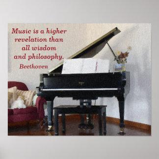 Musik-höhere Enthüllung -- Kunstdruck - Beethoven Poster