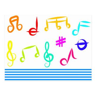 Musik-Ikonen Postkarte