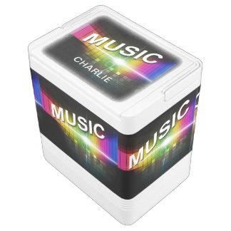 Musik-Illustrations-individueller Name cooler Igloo Kühlbox