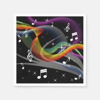 Musik-Illustrationspapierservietten Serviette