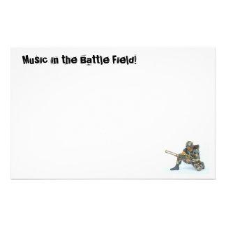 Musik im Schlachtfeld! Briefpapier