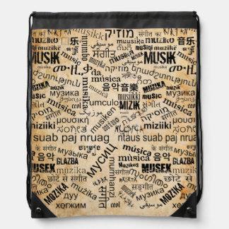Musik in den verschiedenen Sprachen Turnbeutel