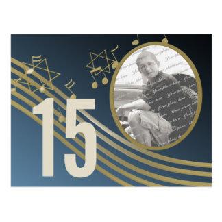 Musik in der Luft-Foto-Tischnummer Postkarte