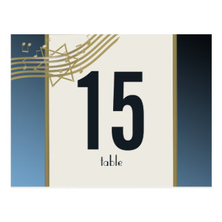 Musik in der Luft-Tischnummer Postkarten