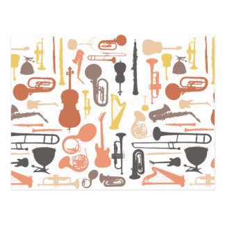 Musik-Instrumente Postkarte