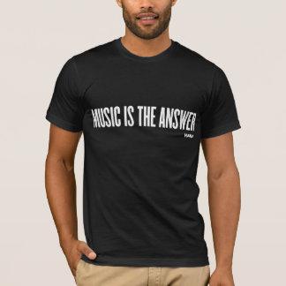 MUSIK IST DIE ANTWORT - Weiß T-Shirt