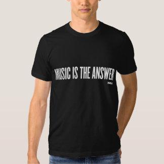 MUSIK IST DIE ANTWORT - Weiß T Shirts