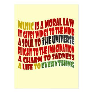 Musik ist ein moralisches Gesetz Postkarte