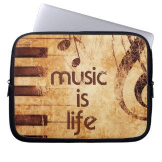 Musik ist Leben Laptop Computer Schutzhülle