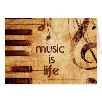 Musik ist Leben Mitteilungskarte