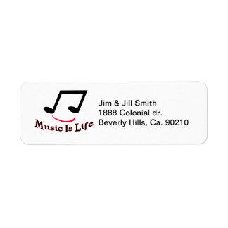 Musik ist Leben-musikalische Anmerkungs-smiley