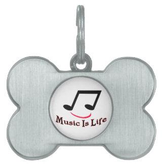 Musik ist Leben-musikalische Anmerkungs-smiley Tiermarke