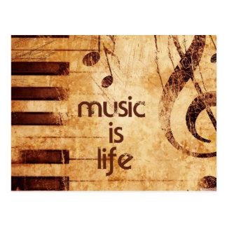 Musik ist Leben Postkarte