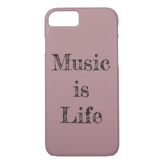 Musik ist Leben (Telefon-Kasten) iPhone 8/7 Hülle