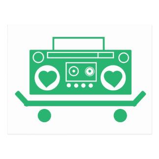 Musik ist Liebe Postkarte