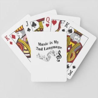 Musik ist mein 2. SprachLiebe-Musik-Geschenk Spielkarten