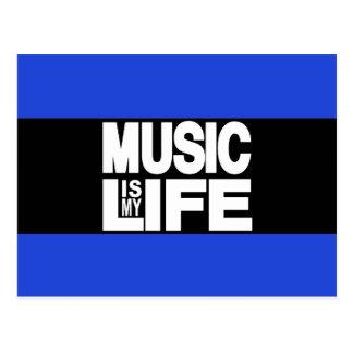 Musik ist mein Leben-Blau Postkarte