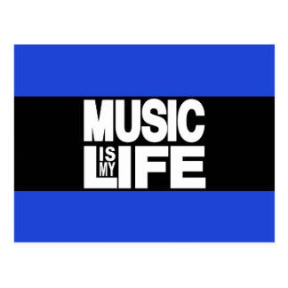 Musik ist mein Leben-Blau Postkarten