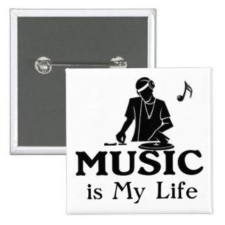 Musik ist mein Leben Buttons