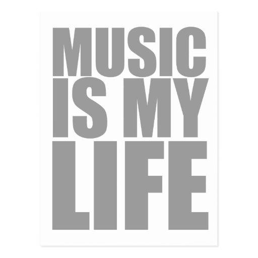 Musik ist mein leben emo alternativer postkarte