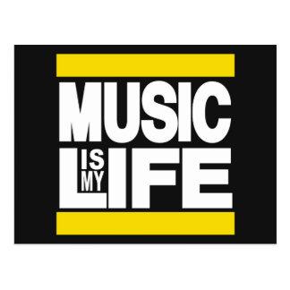 Musik ist mein Leben-Gelb Postkarten