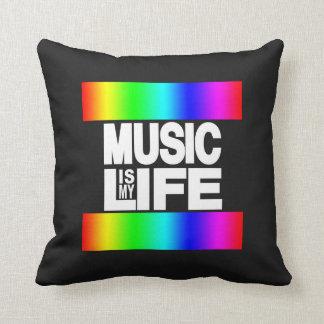 Musik ist mein Leben-Regenbogen Kissen
