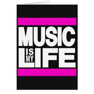 Musik ist mein Leben-Rosa Karte