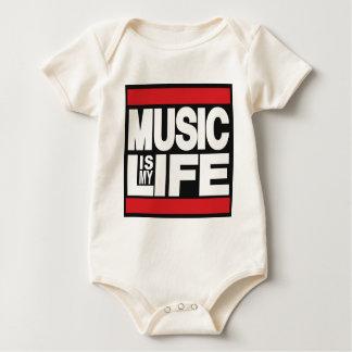 Musik ist mein Leben Rot Baby Strampler