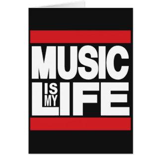 Musik ist mein Leben Rot Grußkarte