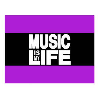 Musik ist mein lila Leben Postkarte