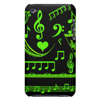 Musik ist mein world-Green_Case Barely There iPod Hülle