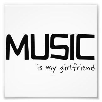 Musik ist meine Freundin Fotografischer Druck