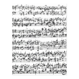 Musik-Kerbe von Johann Sebastian Bach Postkarte