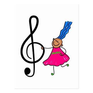Musik-Kind Postkarten