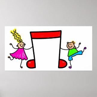 Musik-Kinder Plakate